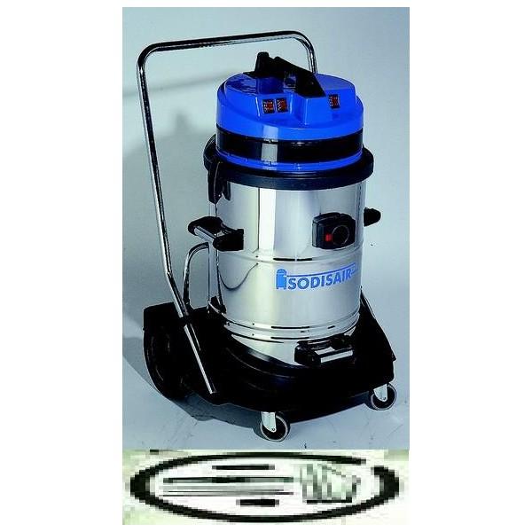 f4cce99dc1a371 Aspirateur Professionnel 78 L INOX eau + poussière 3 moteurs